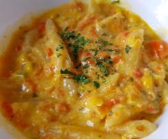 Möhren-Mais-Nudeln