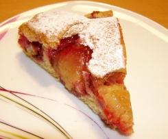 Obstkuchen mit Pflaumen/Zwetschgen ohne Fett