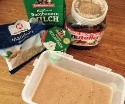 Nutella-Nuss-Eis zum Dahinschmelzen