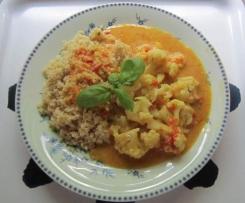 Scharfes Blumenkohlcurry mit Couscous
