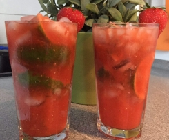Erdbeer-Caipirinha-Cocktail