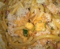 Zuccini-Tomatensoße zu Nudeln / Spagetti