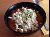 Cremige Tomatensuppe mit Avocado und Feta