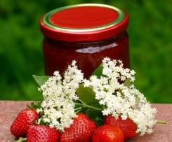 Variation von Erdbeere - Hugo - Marmelade