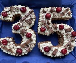 Number Cake - Schwarzwälder-Kirsch