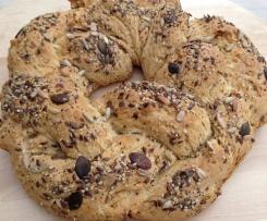 Brotkranz ohne Hefe