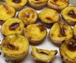 Mini-Pudding-Törtchen - Pasteis de Nata