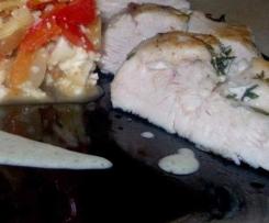 Hähnchenbrust - Sous Vide an Weißweinsauce