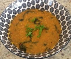 Rote Linsen Dal mit Gemüse - vegan