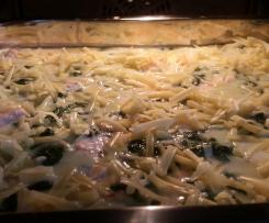 Lachs - Blattspinat - Lasagne
