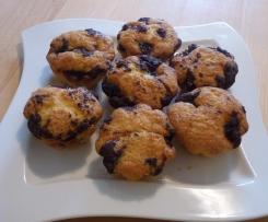 Kirsch-Muffins mit Streuseln
