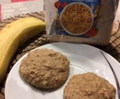 Bananen-Mandel-Haferflocken-Protein-Kekse