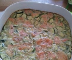 Lachs Zucchini Quiche ohne Boden/ Frittata, Low Carb Vorspeise