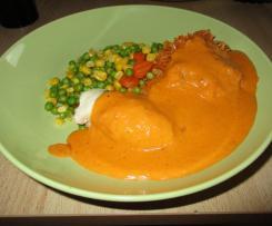 Hähnchenroulade mit Käse-Schinken-Füllung