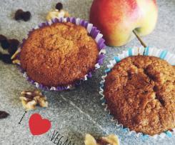 Vegane Apfel Walnuss Muffins