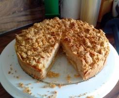 Streuselkuchen mit Apfelmus