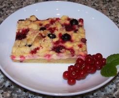 Beeren Schmand Streusel Kuchen Von Honigfee Ein Thermomix Rezept