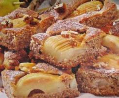 Blitz-Birnen-Walnuss-Kuchen