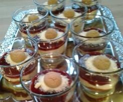 Amaretto-Spaghettieis-Dessert (Variation von Spaghettieis-Dessert)