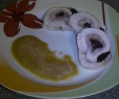 puten-käse-rollen mit malzbiersauce