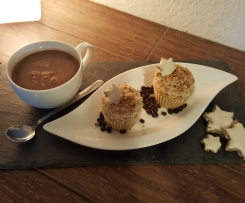 Bratapfel-Cupcakes mit Spekulatiustopping