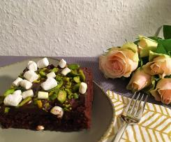 Marshmallow-Brownies mit Pistazien