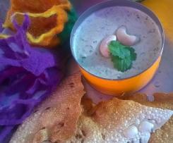 Cashew-Koriander Chutney, indischer Dip
