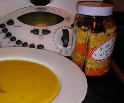 Linsen-Curry-Suppe als Geschenk im Glas