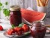 Wassermelonen-Himbeer-Konfitüre mit Minze