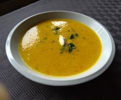 Variation Geröstete Grießsuppe (mit Gemüse)