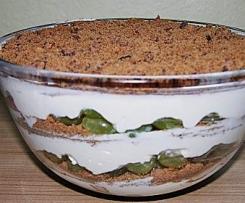 Dessert mit Weintrauben