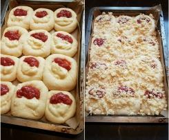 Pudding Erdbeer Hefeteig Buchteln