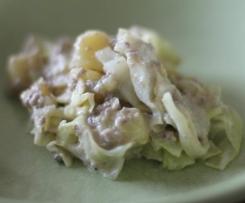 Spitzkohl-Kartoffel-Hack-Pfanne (ohne Pfanne)