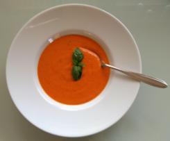 Lauchfreie Tomaten-Paprika-Creme-Suppe - oder auch Nudel-Soße