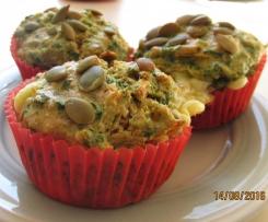 Karotten,Spinat und Fetta Muffin