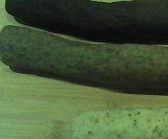 Variation von Vanille, Mokka, Schockokipferl