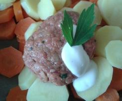 Frikadellen mit Gemüse vom Backblech