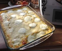 Kürbis-Mozarella-Lasagne