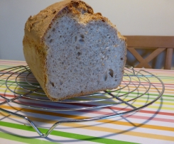 Variation Dinkel-Weizen-Mischbrot OHNE Kürbiskernen, mit gemahlenen Haferflocken