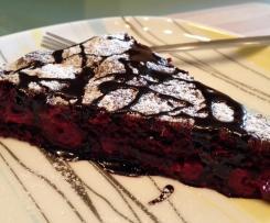 Blitz- Schokoladenkuchen mit Kirschen, vegan