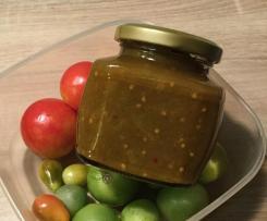 Chutney aus grünen, unreifen Tomaten