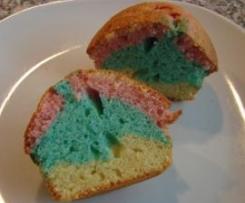 Regenbogen-Muffins