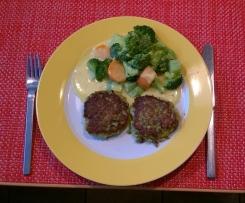 Fischfrikadellen (Fischfrikkos) mit Reis, Brokkoli und Curry-Ingwer Sauce (nach Finessen 2/15)