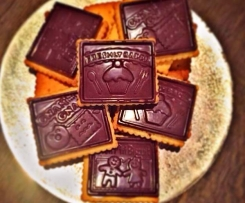 Butterkekse mit Schokolade
