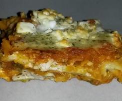 Kürbis-Zucchini -Lasagne