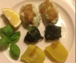 Zander/Fischklösschen bzw. Quenelles de poisson