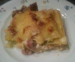 Wirsing-Kasseler-Lasagne