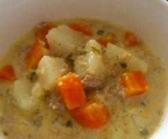 Gemüsesuppe mit Putenfleisch