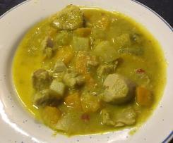 Putencurry mit Gemüse