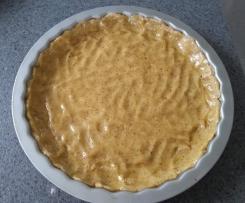 "Zwetschgen-/ Johannisbeer- oder Rhabarberkuchen ""ruckzuck"" (Vollkorn)"